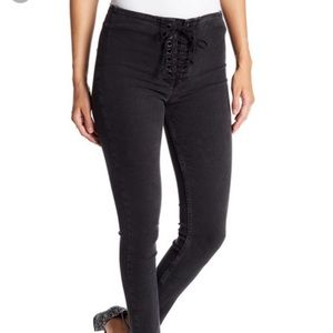 Free People Lace Up Skinny